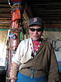 Tibet - Trek 2 - 09 our friendly host in Leten village (4397664663).jpg