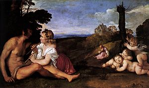 The Three Ages of Man (Titian) - Image: Tiziano, tre età dell'uomo 01