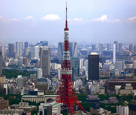 Tokyo Tower, built in 1958