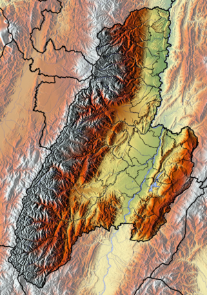 Tolima Department - Image: Tolima Topographic 2
