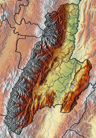 Tolima Department - Image: Tolima Topographic 2