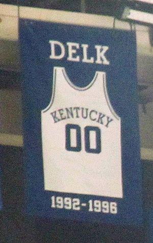 Tony Delk - A jersey honoring Delk hangs in Rupp Arena.