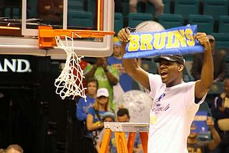Parker cutting the net after UCLA won the 2014 Pac-12 Tournament Tony Parker cutting net.JPG