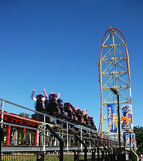 Top Thrill Dragster steel accelerator roller coaster at Cedar Point