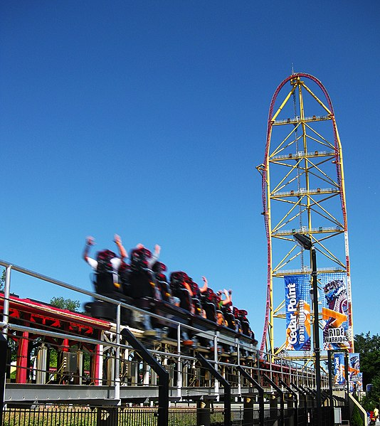 The Top Thrill Dragster roller coaster at Cedar Point