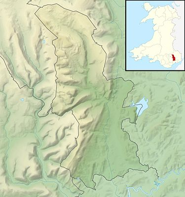 Location map Wales Torfaen