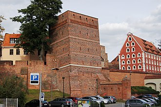 Toruń - City walls and the Leaning Tower
