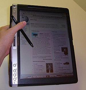 Pic of Toshiba Portege 3500 tablet PC, taken b...