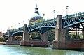 Toulouse - Pont Saint-Pierre - Tablier côté rive gauche de la Garonne.JPG
