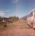 Tourists stopped for dinner, Alaska tour 1977.jpg