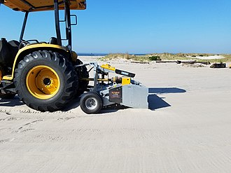 Sand cleaning machine - Tractor Attached Beach Cleaner