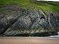 Traeth y Mwnt, cliffs south of beach - geograph.org.uk - 545736.jpg