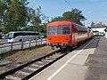 Train station, track 'A' and DDKK bus, 2019 Siófok.jpg