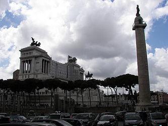 Trajan's Column and Vittoriano.jpg