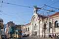 Trams in Sofia in front of Central Market Hall 2012 PD 031.jpg