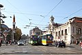 Trams in Sofia in front of Central Market Hall 2012 PD 12.JPG