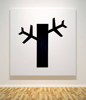 Francis Acea - Tree - Attack. 2006. Acrylic on Canvas. 54 x 54 inches