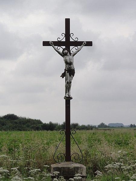 Trefcon (Aisne) croix de chemin