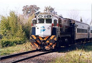 Ferrobaires - A Ferrobaires train to Junín in 2000.