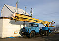 Truck in Omni Hotel Murmansk.jpg