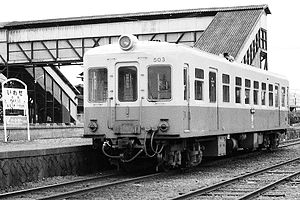 Jōban Line - Tsukuba Railway train at Iwase station