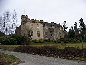 Bain family - Tulloch Castle, formerly seat of the Bain of Tulloch family.
