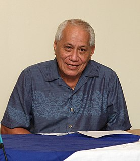 Tui Atua Tupua Tamasese Efi 4th Prime Minister of Samoa and current O le Ao o le Malo, Samoas head of state