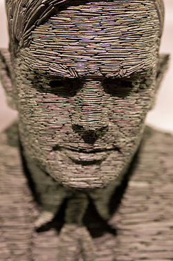 Statue of Alan Turing at Bletchley Park.  Image: Antoine Taveneaux.
