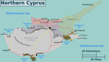 Turkish Cyprus regions map.png
