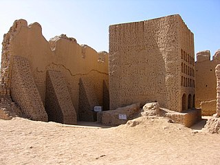 Site of historical ruins in Xinjiang