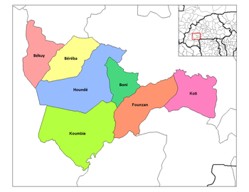 Koti Department location in the province