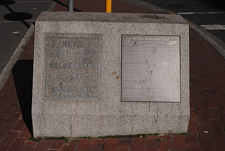 Memorial to the events in Cape Town, located on Adderley Street Two Minutes of Silence and Remembrance 01.jpg