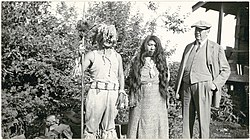 Two Saanich people with GG Heye, 1938.jpg