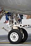 U.S.NAVY E-2D Advanced Hawkeye(168991) of VAW-125 nose landing gear left rear view at MCAS Iwakuni May 5, 2018 02.jpg