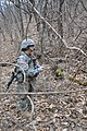U.S. Army 2nd Lt. Hannah Drosehn, from Newark, Del., a quartermaster officer assigned to the 70th Brigade Support Battalion, 210th Fires Brigade, 2nd Infantry Division, conducts a day land navigation 130319-A-WG463-182.jpg