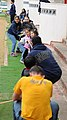 U.S. Sailors assigned to Naval Mobile Construction Battalion 1 and Commander, Fleet Activities Okinawa participate in an English through play community relations event at the Busy Bee International School 140307-N-EP471-255.jpg