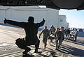 U.S. Soldiers load simulated natural disaster casualties onto an Air Force C-17 Globemaster III aircraft March 31, 2014, during an evacuation drill as part of a mission assurance exercise during Ardent Sentry 140331-F-LX370-456.jpg
