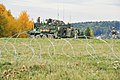 U.S. Soldiers with the 2nd Cavalry Regiment dismount from a Stryker armored vehicle to secure an area during exercise Saber Junction near Fuchsstein, Germany, Oct 121014-A-ZR192-004.jpg