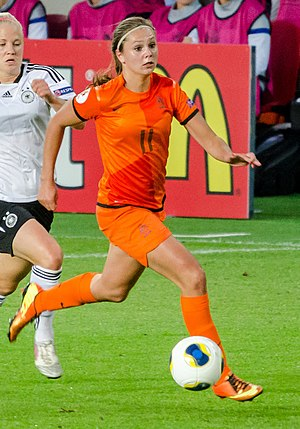 Netherlands women's national football team - Lieke Martens playing against Germany at UEFA Women's Euro 2013