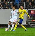 UEFA EURO qualifiers Sweden vs Spain 20191015 Thiago Alcantara and KRistoffer Olsson 2.jpg
