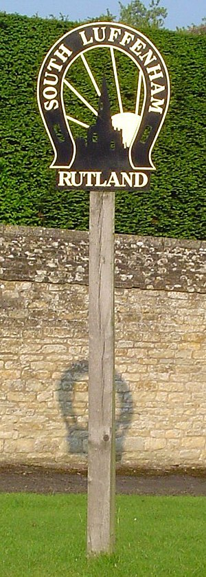 South Luffenham - Village signpost