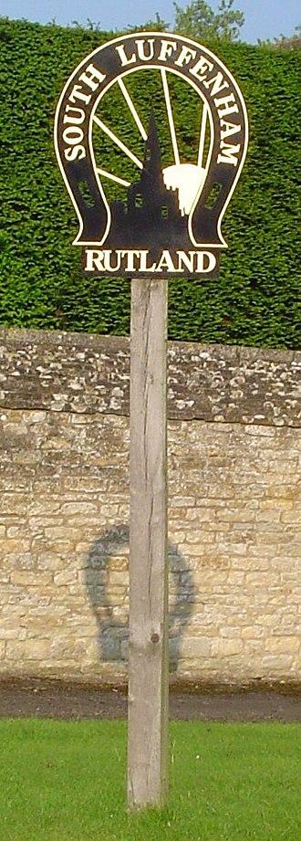South Luffenham - Village signpost