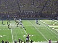 UMass vs. Michigan football 2012 06 (UMass punting).jpg