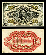 Ten-cent third-issue fractional note