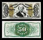 fifty-cent third-issue fractional note