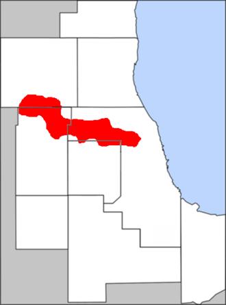 Golden Corridor - The Golden Corridor in the Chicago metropolitan area