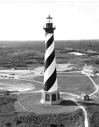 Cape Hatteras Lighthouse - Cape Hatteras Light, USCG Archive photo