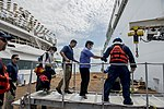 USNS Mercy crew transfers surgery patients ashore during Pacific Partnership 2015 150823-F-YW474-056.jpg