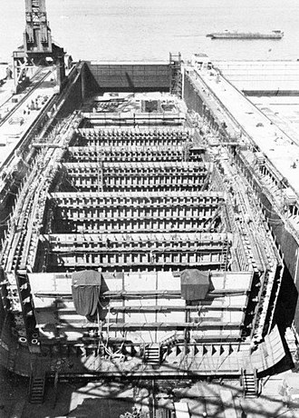 USS America (CV-66) - America under construction at Newport News in 1961