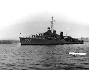 USS Massey (DD-778) port side forward